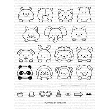 Clearly Besotted POP UP PLUSHIES Clear Stamps CBSPO252