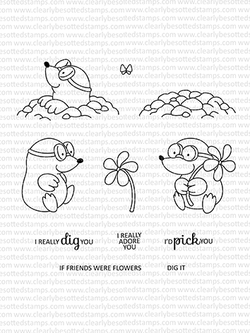 Clearly Besotted MISCHIEVOUS MOLE Clear Stamps CBSMI292 Preview Image
