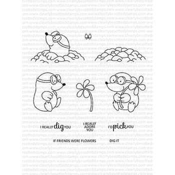 Clearly Besotted MISCHIEVOUS MOLE Clear Stamps CBSMI292