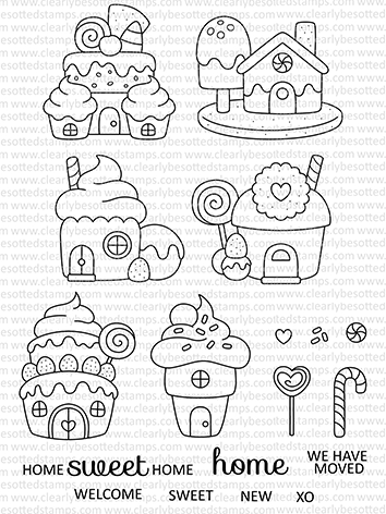 Clearly Besotted HOME SWEET HOME Clear Stamps CBSHO229 zoom image