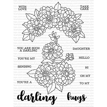Clearly Besotted DARLING DAHLIA Clear Stamps CDSDA167