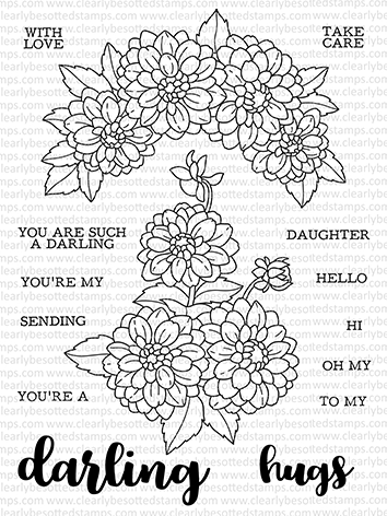 Clearly Besotted DARLING DAHLIA Clear Stamps CDSDA167 zoom image