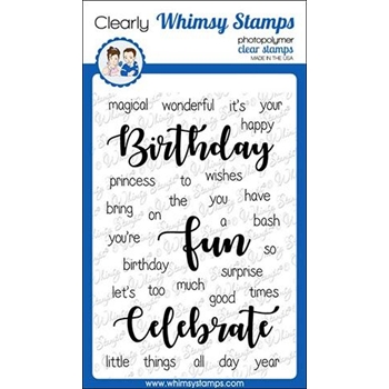 Whimsy Stamps YOU'RE BIRTHDAY Clear Stamps CWSD278
