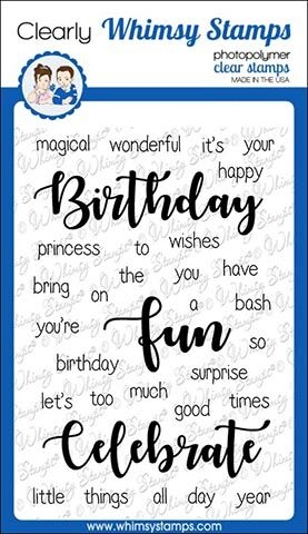 Whimsy Stamps YOU'RE BIRTHDAY Clear Stamps CWSD278 zoom image