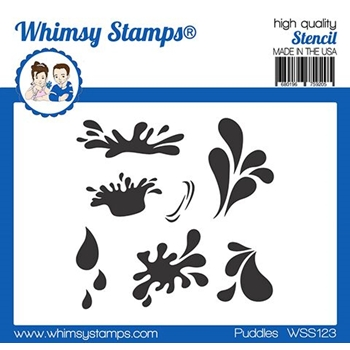 Whimsy Stamps PUDDLES Stencil WSS123