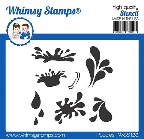 Whimsy Stamps PUDDLES Stencil WSS123 zoom image