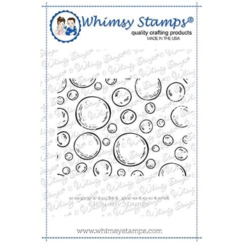 Whimsy Stamps MINI BUBBLES BACKGROUND Rubber Cling Stamps DDB0027