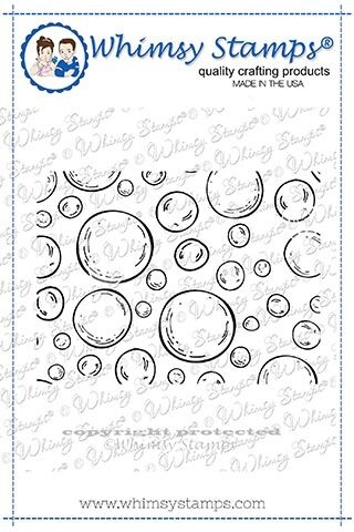 Whimsy Stamps MINI BUBBLES BACKGROUND Rubber Cling Stamps DDB0027 zoom image
