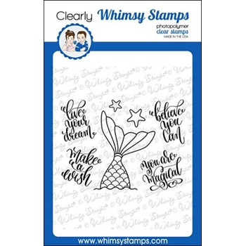Whimsy Stamps MERMAID DREAMS Clear Stamps CWSD280