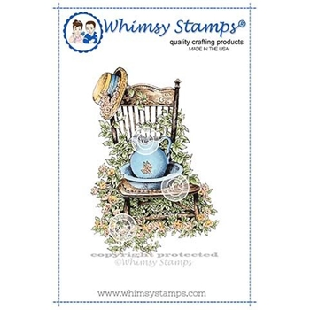 Whimsy Stamps IVY CHAIR Rubber Cling Stamp DA1118