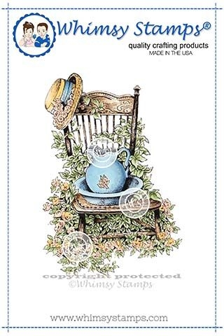 Whimsy Stamps IVY CHAIR Rubber Cling Stamp DA1118 zoom image