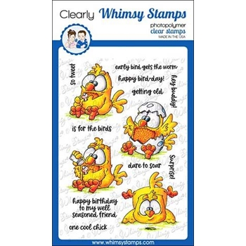 Whimsy Stamps EARLY BIRDS Clear Stamps DP1018