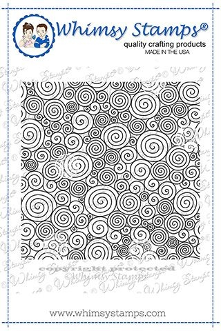 Whimsy Stamps CURLY Q'S BACKGROUND Rubber Cling Stamp DDB0026 Preview Image