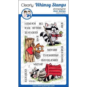 Whimsy Stamps CAMP CRITTERS Clear Stamps DP1017