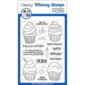 Whimsy Stamps CALORIES SCHMALORIES Clear Stamps CWSD277