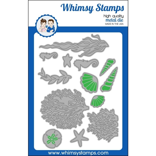 Whimsy Stamps BUILD AN OCEAN Dies WSD396 Preview Image