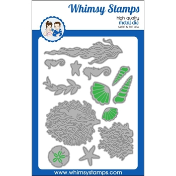 Whimsy Stamps BUILD AN OCEAN Dies WSD396