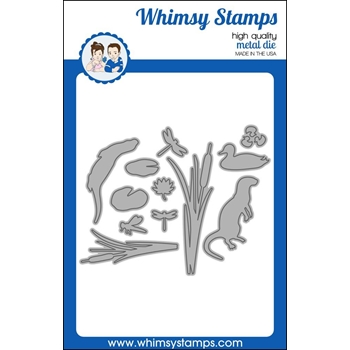 Whimsy Stamps BUILD A POND Dies WSD393