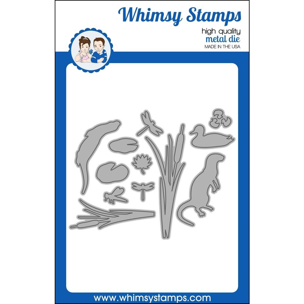 Whimsy Stamps BUILD A POND Dies WSD393 zoom image