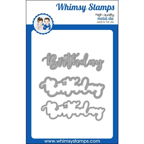 Whimsy Stamps BIRTHDAY WORD WITH SHADOW Dies WSD391 Preview Image