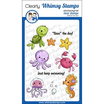Whimsy Stamps BABY SEA CREATURES Clear Stamps KHB133