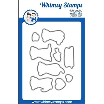 Whimsy Stamps ADORABLE OTTER Dies WSD390