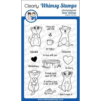 Whimsy Stamps ADORABLE OTTER Clear Stamps CWSD268