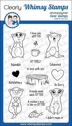 Whimsy Stamps ADORABLE OTTER Clear Stamps CWSD268 zoom image