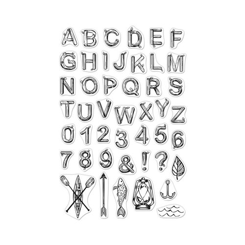 Hero Arts Clear Stamps LOG LETTERS AND NUMBERS CM383  Preview Image