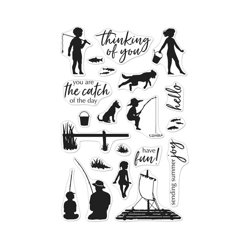 Hero Arts Clear Stamps LAKE TIME FUN CM381 zoom image