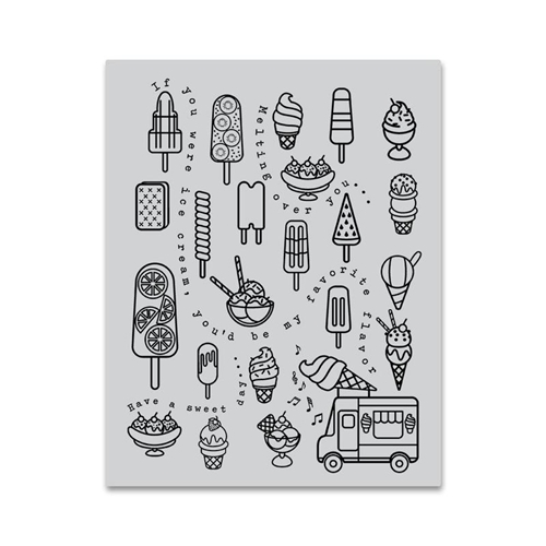 Hero Arts Cling Stamp ICE CREAM BACKGROUND CG788 Preview Image