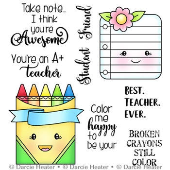 Darcie's TAKE NOTE Clear Stamp Set pol440