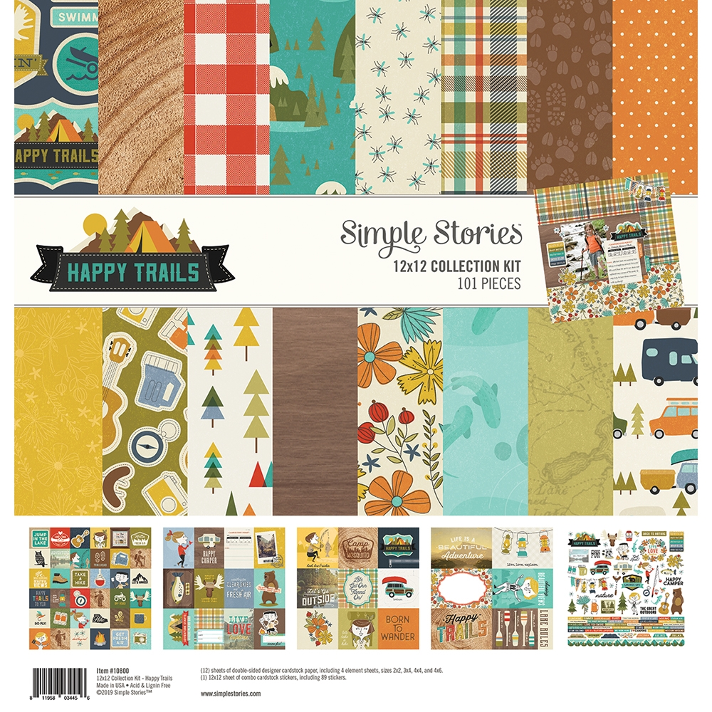 Simple Stories HAPPY TRAILS 12 x 12 Collection Kit 10800 zoom image
