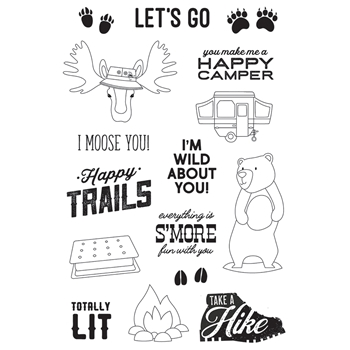 Simple Stories HAPPY TRAILS Clear Stamp Set 10821