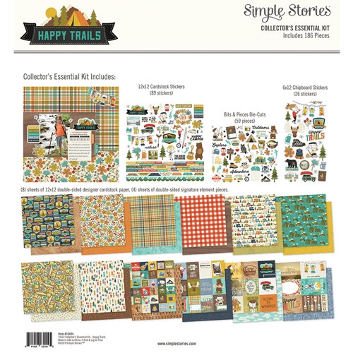 Simple Stories HAPPY TRAILS 12 x 12 Collector's Essential Kit 10824 Preview Image