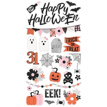Simple Stories HAPPY HAUNTING 6 x 12 Chipboard Stickers 10918