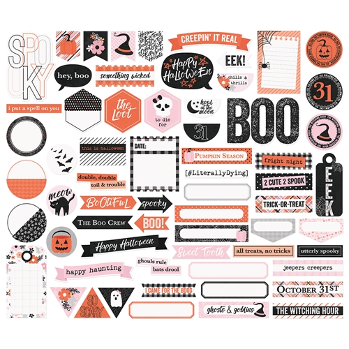 Simple Stories HAPPY HAUNTING Journal Bits And Pieces 10920 Preview Image