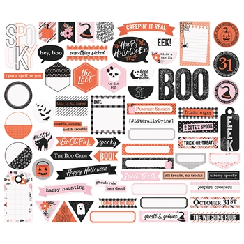 Simple Stories HAPPY HAUNTING Journal Bits And Pieces 10920