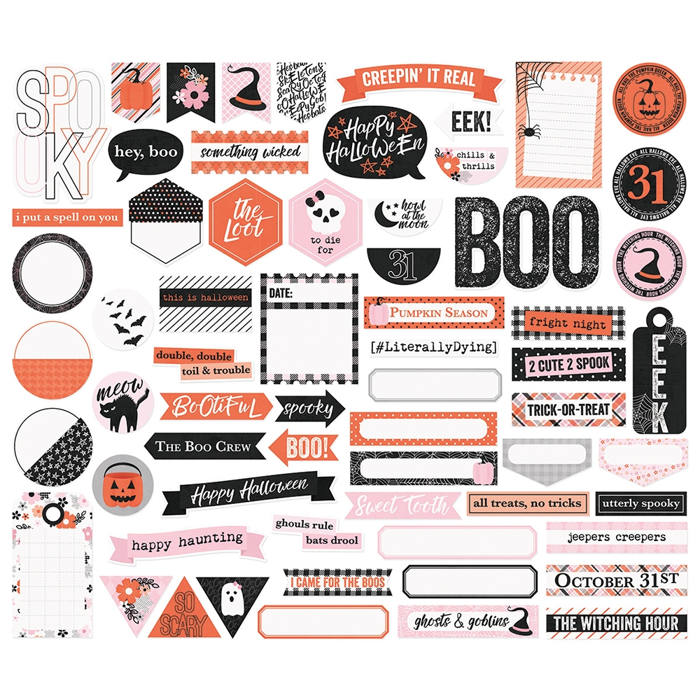 Simple Stories HAPPY HAUNTING Journal Bits And Pieces 10920 zoom image
