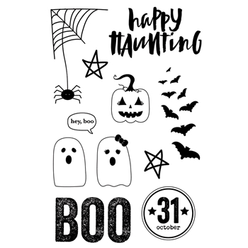 Simple Stories HAPPY HAUNTING Clear Stamp Set 10921