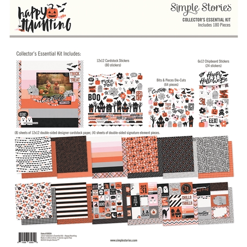 Simple Stories HAPPY HAUNTING 12 x 12 Collector's Essential Kit 10924 Preview Image