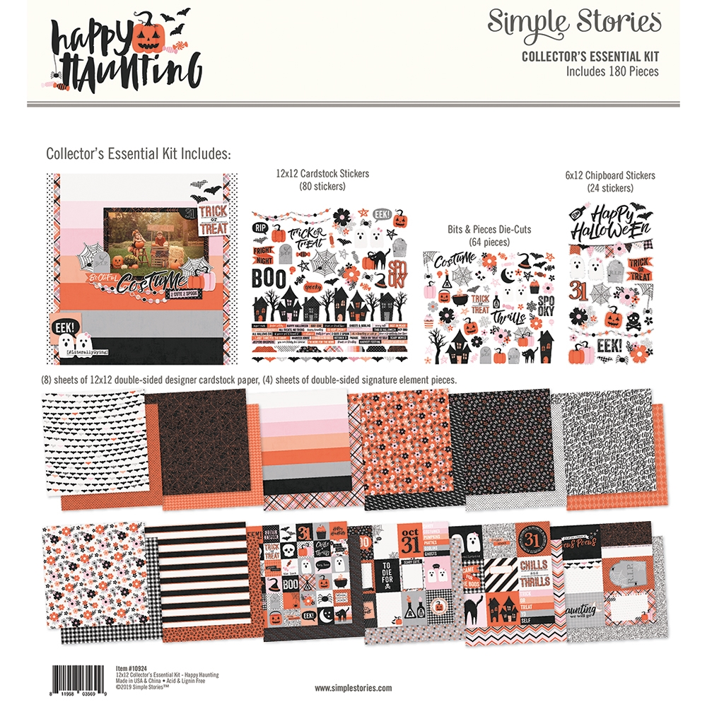 Simple Stories HAPPY HAUNTING 12 x 12 Collector's Essential Kit 10924 zoom image