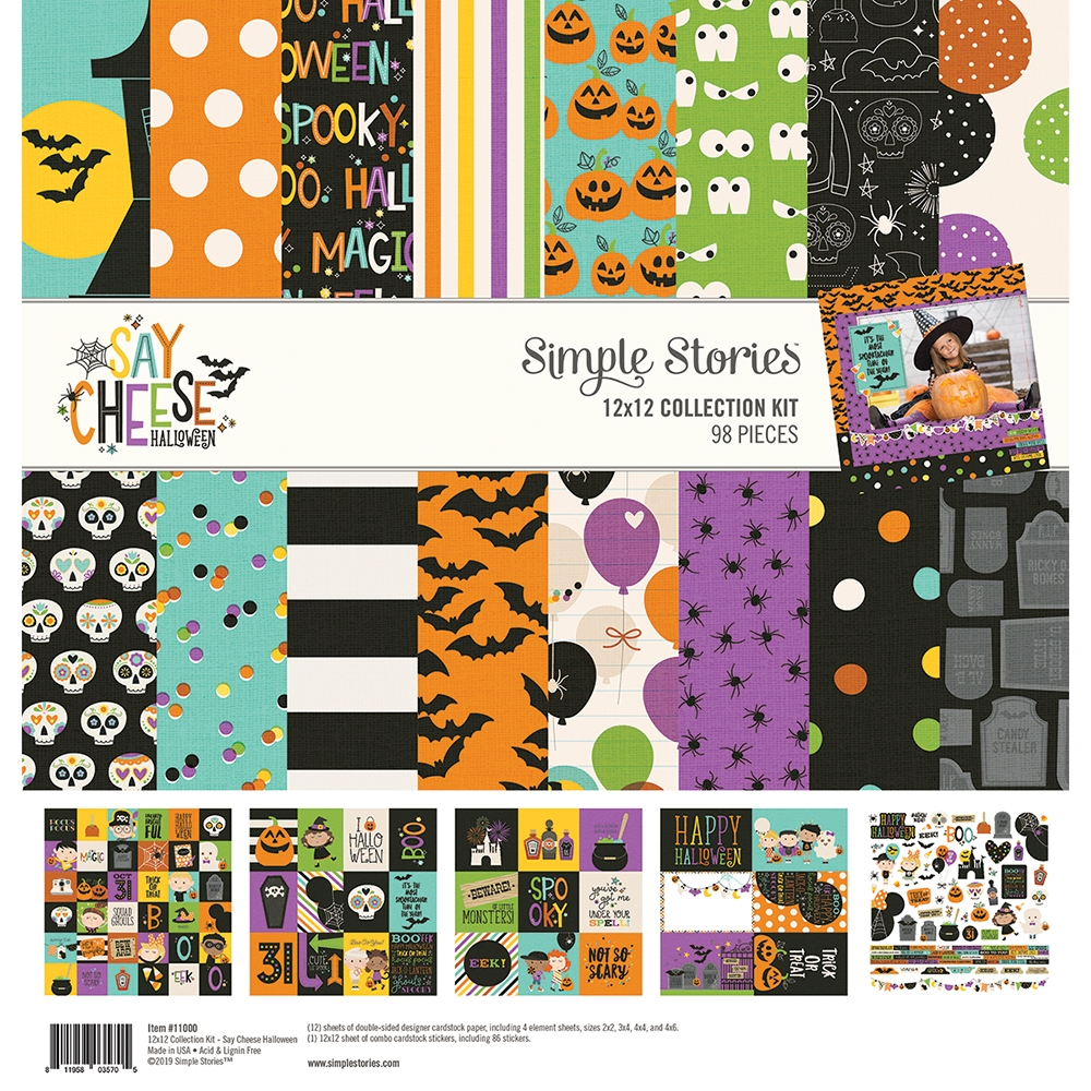 Simple Stories SAY CHEESE HALLOWEEN 12 x 12 Collection Kit 11000 zoom image