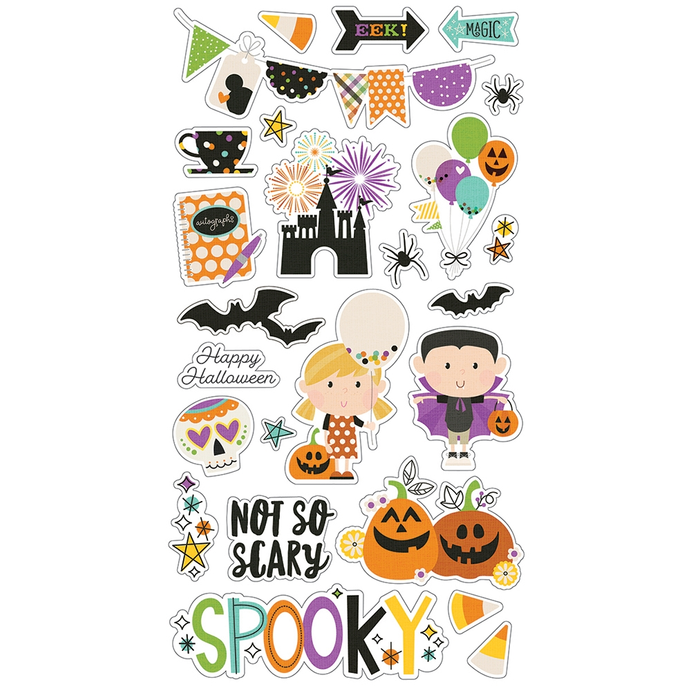 Simple Stories SAY CHEESE HALLOWEEN 6 x 12 Chipboard Stickers 11018* zoom image
