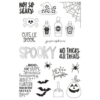 Simple Stories SAY CHEESE HALLOWEEN Clear Stamp Set 11021