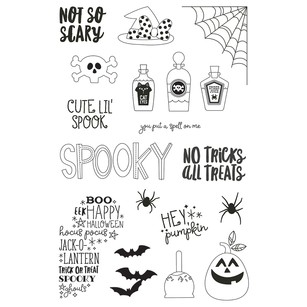 Simple Stories SAY CHEESE HALLOWEEN Clear Stamp Set 11021 zoom image