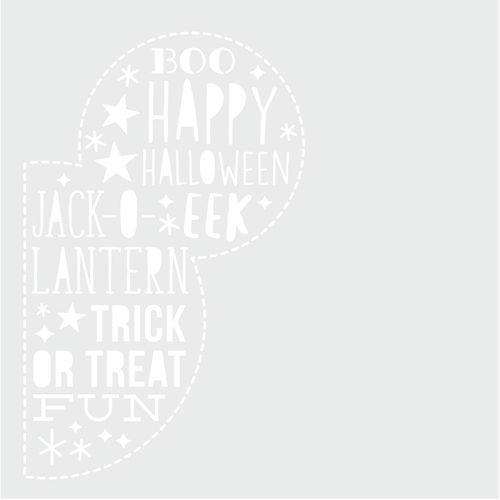 Simple Stories SAY CHEESE HALLOWEEN 6 x 6 Stencil 11023 Preview Image