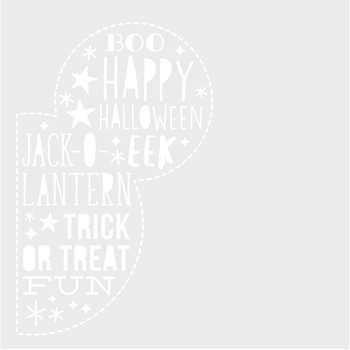 Simple Stories SAY CHEESE HALLOWEEN 6 x 6 Stencil 11023