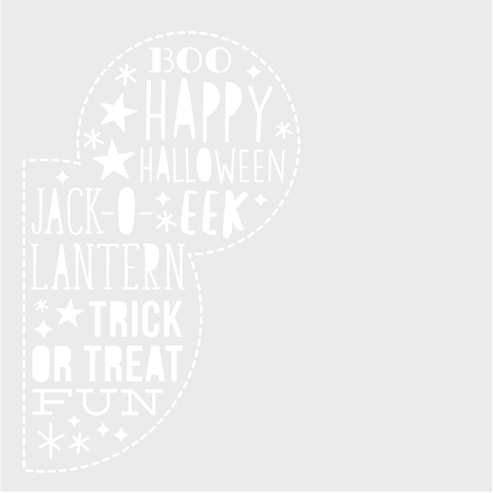 Simple Stories SAY CHEESE HALLOWEEN 6 x 6 Stencil 11023 zoom image