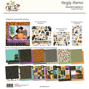 Simple Stories SAY CHEESE HALLOWEEN 12 x 12 Collector's Essential Kit 11024*